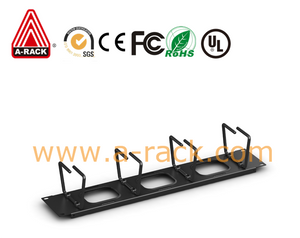 RM86008 Horizontal Cable Organizer(cable rings,pass through holes)